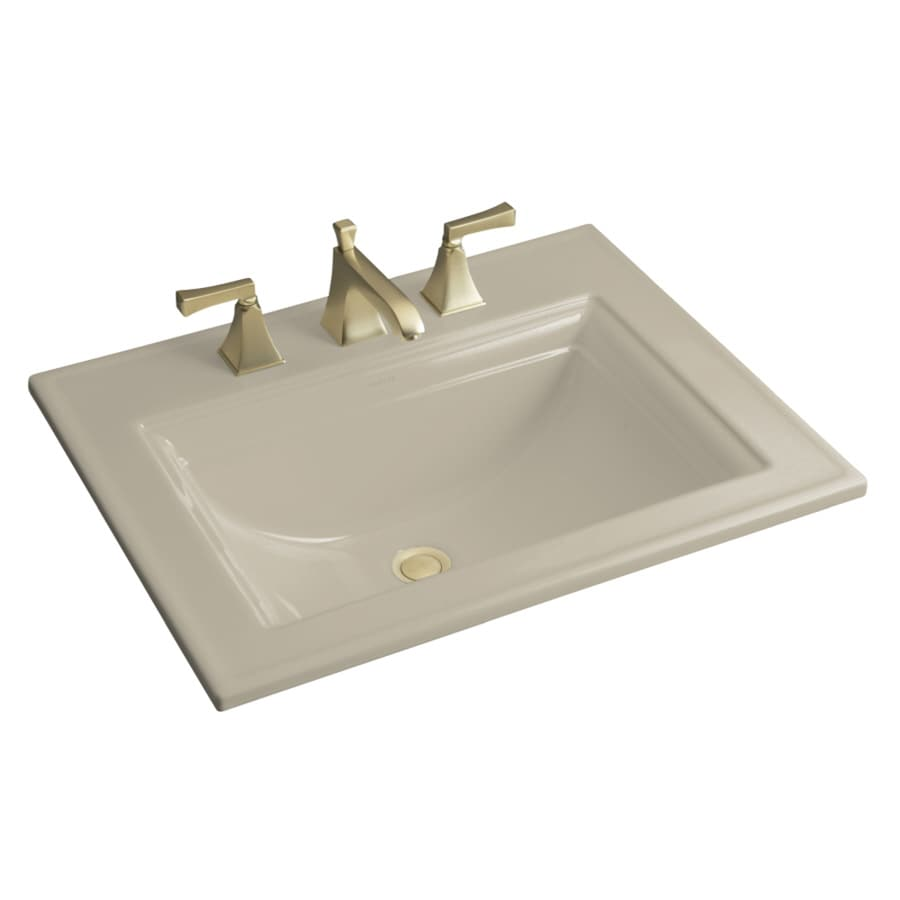KOHLER Sandbar Drop-in Rectangular Bathroom Sink with Overflow