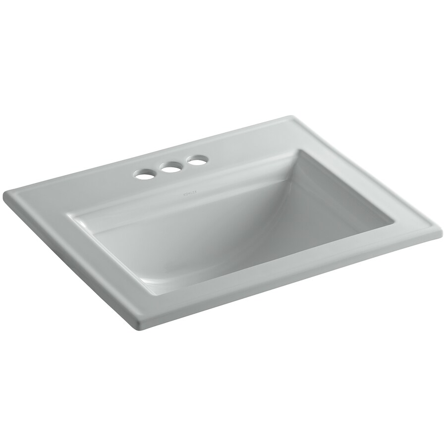 Memoirs Kohler Sink : Shop KOHLER Memoirs Ice Grey Drop-in Rectangular Bathroom Sink with ...