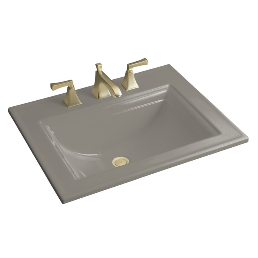 Shop Kohler Memoirs Cashmere Drop In Rectangular Bathroom Sink With Overflow At