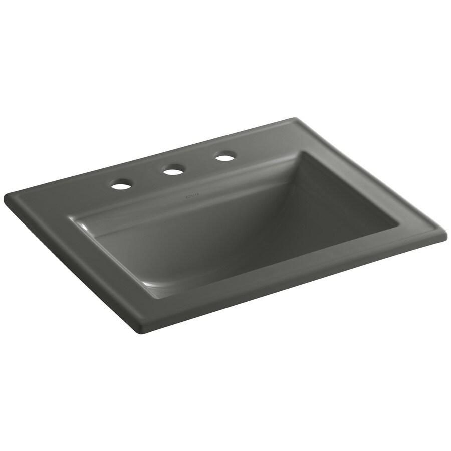 Memoirs Kohler Sink : KOHLER Memoirs Thunder Grey Drop-in Rectangular Bathroom Sink with ...