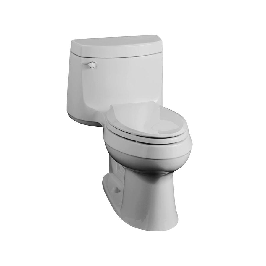 Kohler Cimarron Ice Grey Elongated 1 Piece Toilet At Lowes Com