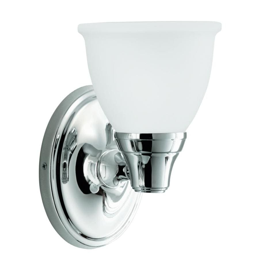 Shop KOHLER Forte 5.4300-in W 1-Light Polished Chrome Arm Wall Sconce at Lowes.com