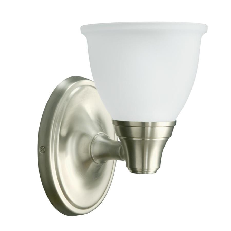 Shop KOHLER Forte 5.43-in W 1-Light Vibrant Brushed Nickel Arm Wall Sconce at Lowes.com