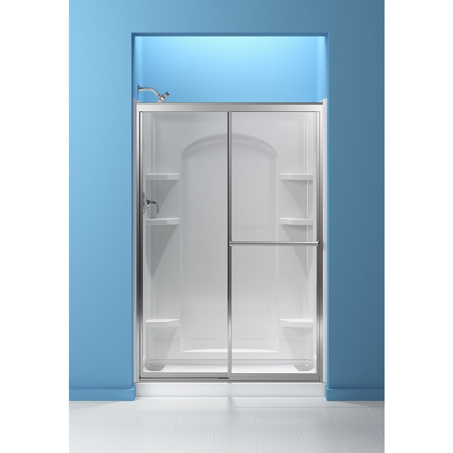 Sterling Ensemble White Vikrell Shower Base (Common: 34 In W X 48