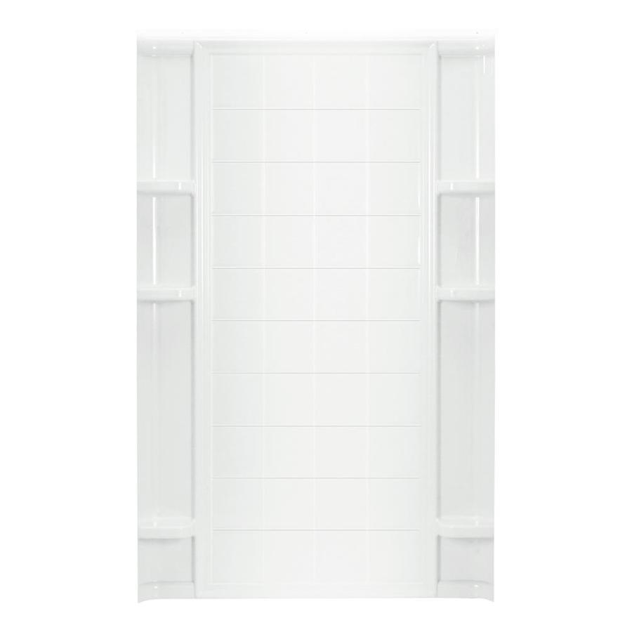 Sterling Ensemble White Shower Wall Surround Back Panel (Common: 2-in x 1.625-in; Actual: 72.5-in x 1.625-in x 1.625-in)