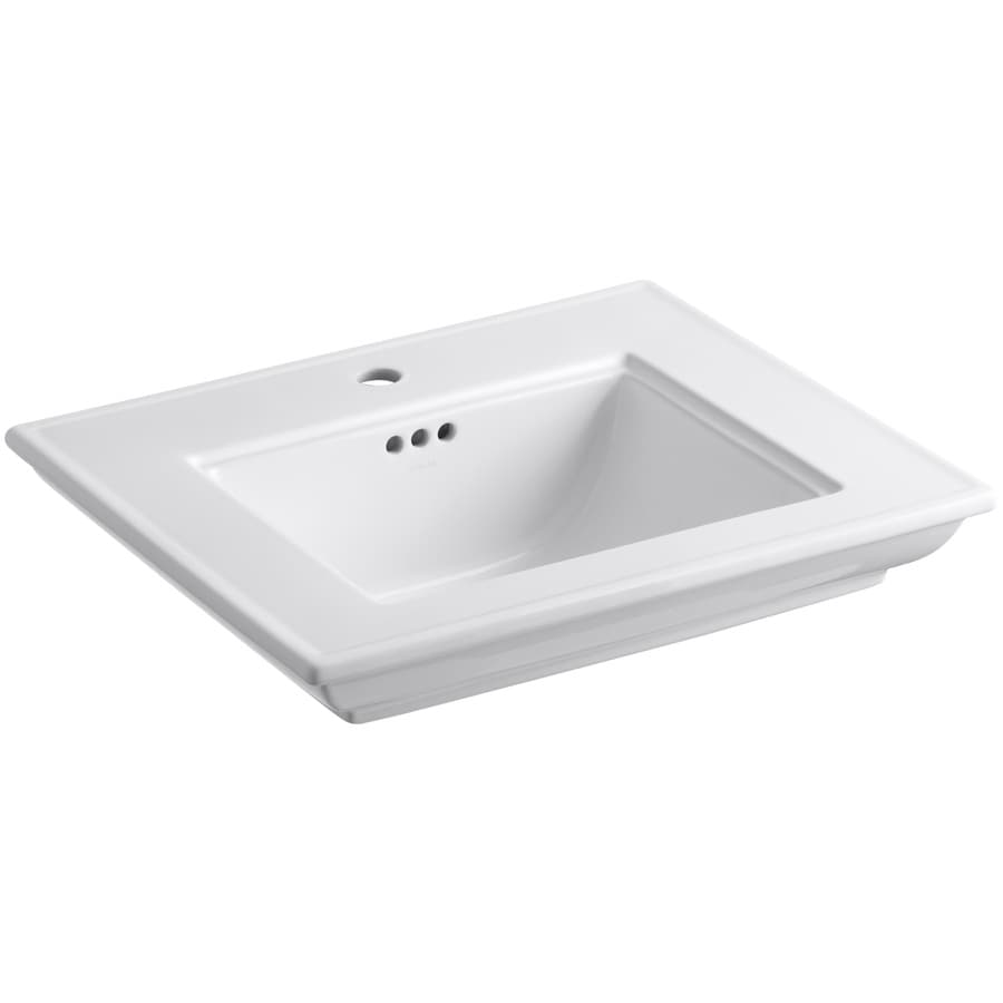 KOHLER Memoirs 24.5-in L x 20.5-in W White Fire Clay Rectangular Pedestal Sink Top