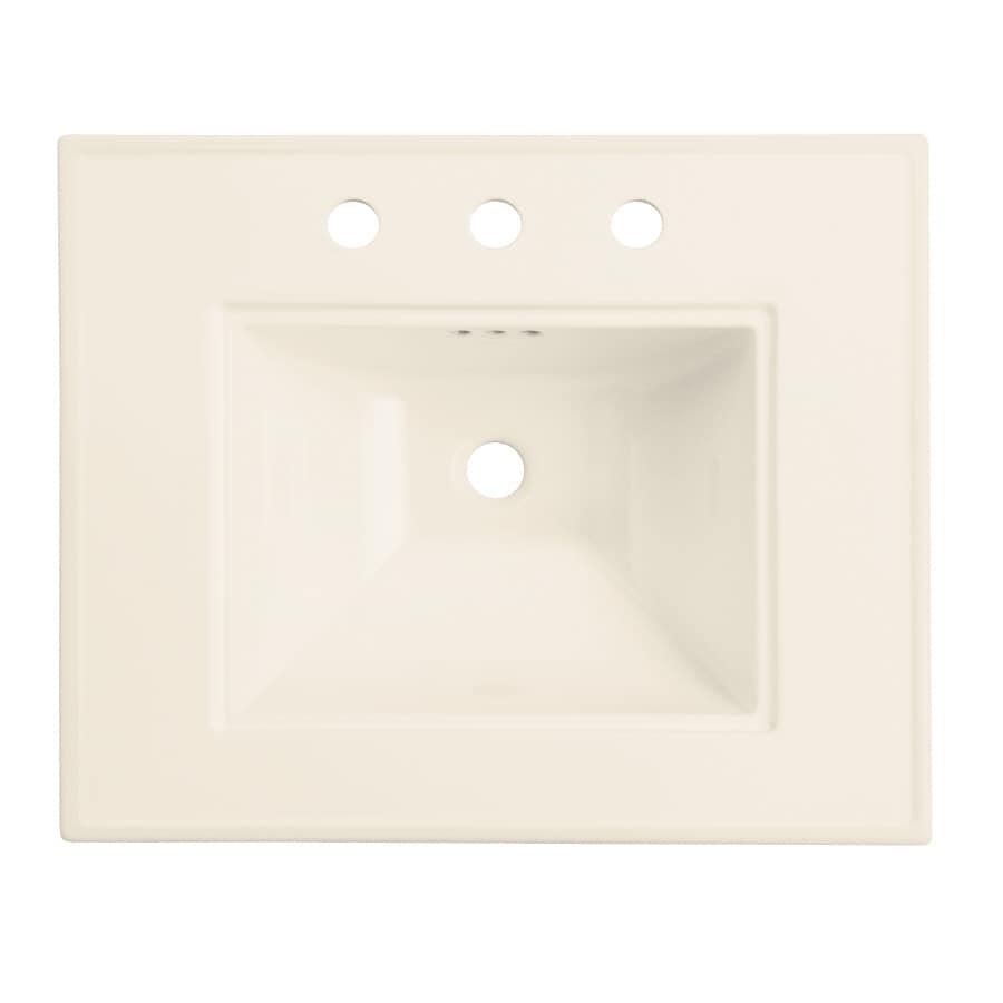 KOHLER 24.5-in L x 20.5-in W Almond Vitreous China Pedestal Sink Top