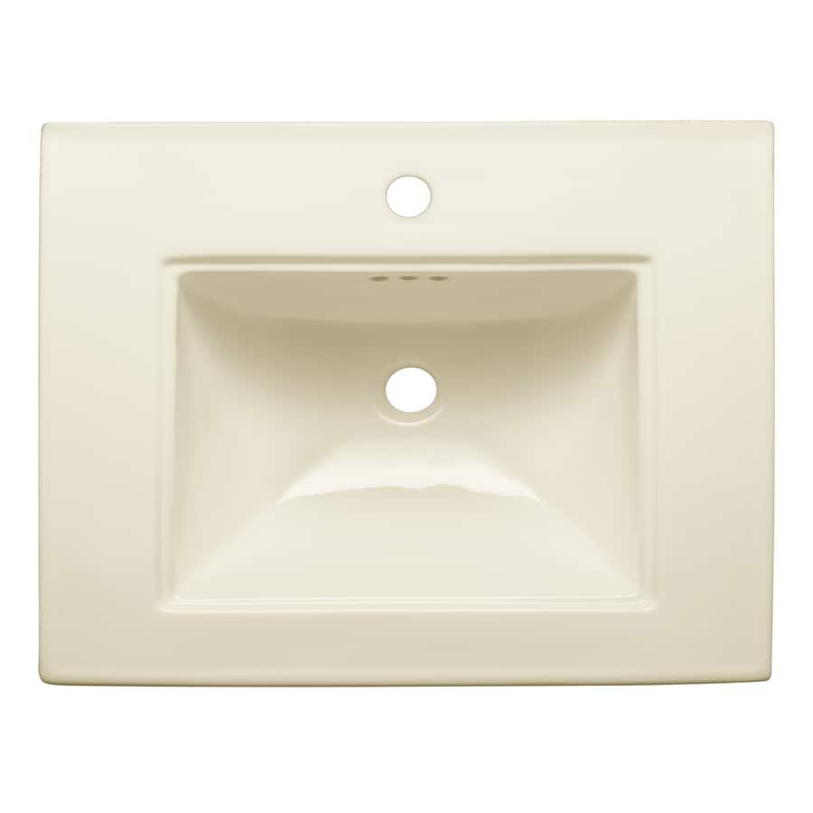 KOHLER Memoirs 24.5-in L x 20.5-in W Biscuit Fire Clay Rectangular Pedestal Sink Top