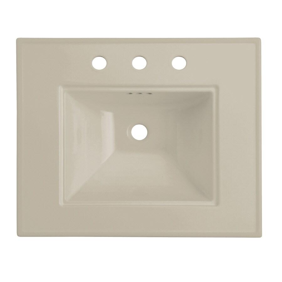 KOHLER Memoirs 24.5-in L x 20.5-in W Sandbar Fire Clay Rectangular Pedestal Sink Top