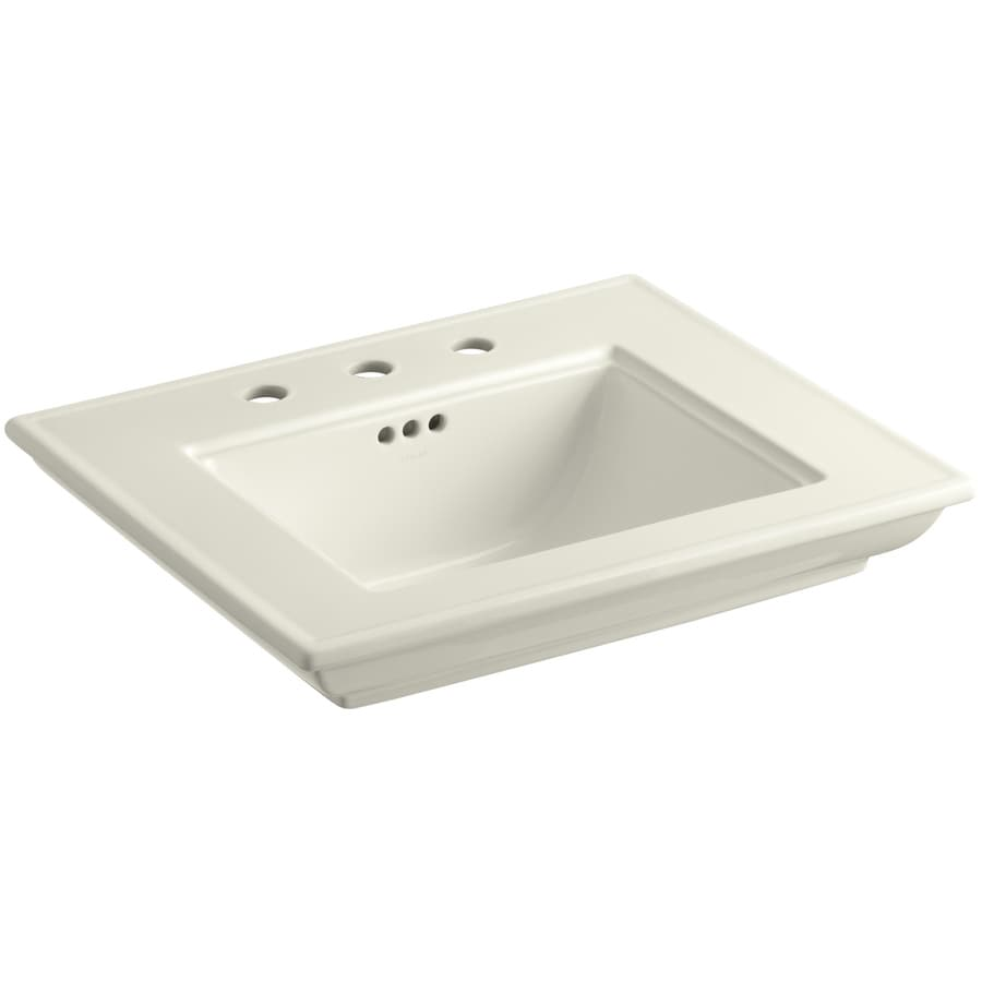 KOHLER Memoirs 24.5-in L x 20.5-in W Biscuit Fire Clay Rectangular Pedestal Sink Top