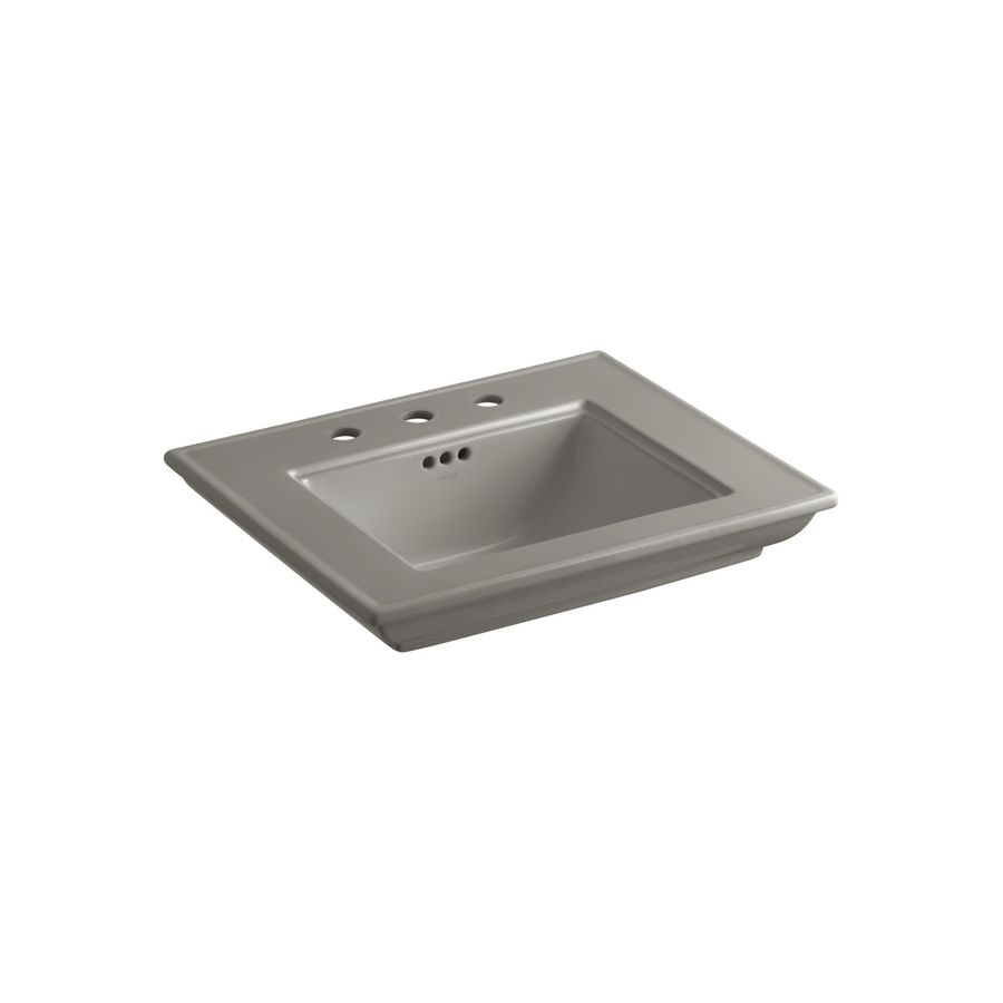 Kohler Memoirs 24 Pedestal Sink : KOHLER Memoirs 24.5-in L x 20.5-in W Cashmere Fire Clay Rectangular ...