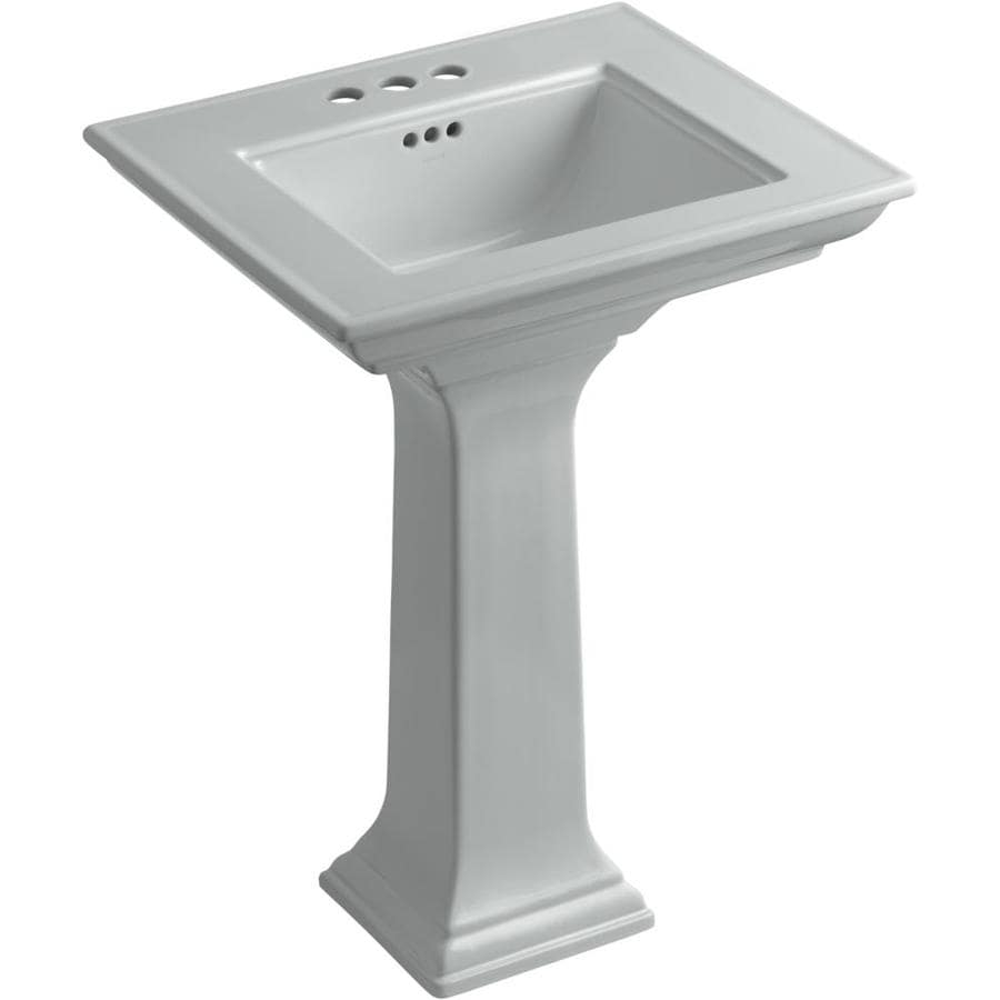 KOHLER Memoirs 34.75-in H Ice Grey Fire Clay Pedestal Sink