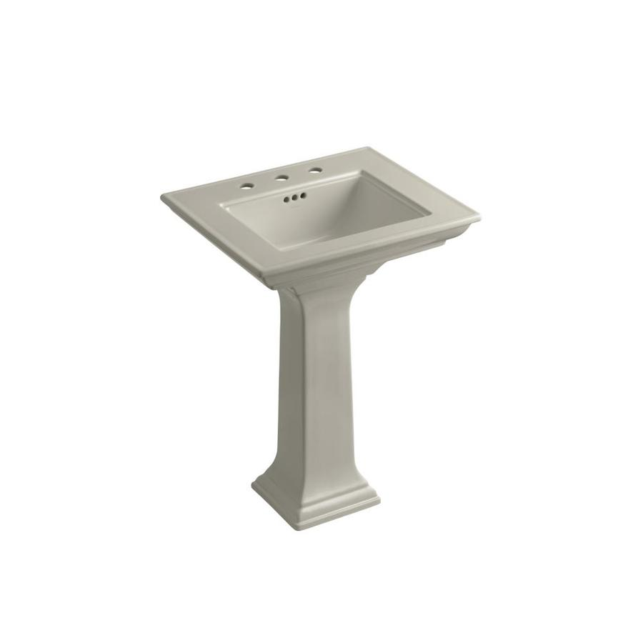 Kohler Pedestal : Shop KOHLER Memoirs 34.75-in H Black Black Fire Clay Pedestal Sink at ...