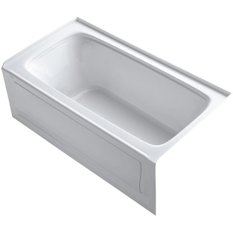 Shop KOHLER Bancroft 60-in White Acrylic Rectangular Right