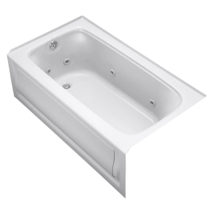 KOHLER Bancroft White Acrylic Rectangular Whirlpool Tub (Common: 32-in x 60-in; Actual: 20-in x 32-in x 60-in)