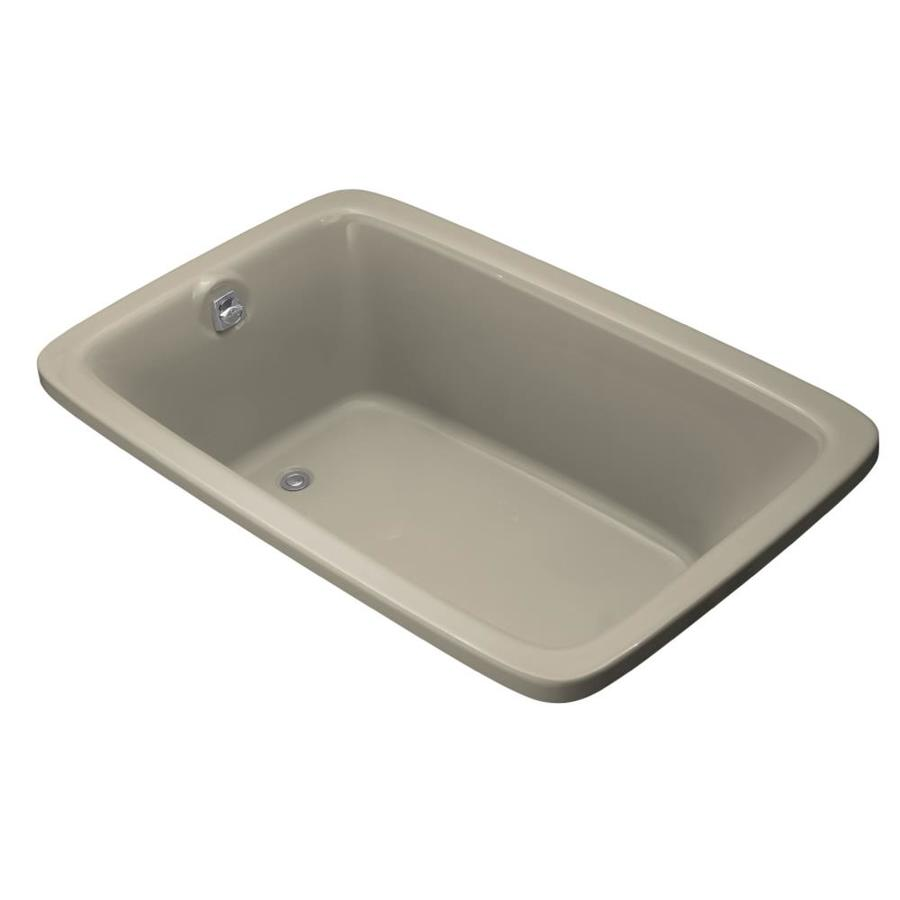 KOHLER Bancroft 66-in Sandbar Acrylic Drop-In Bathtub with Reversible Drain