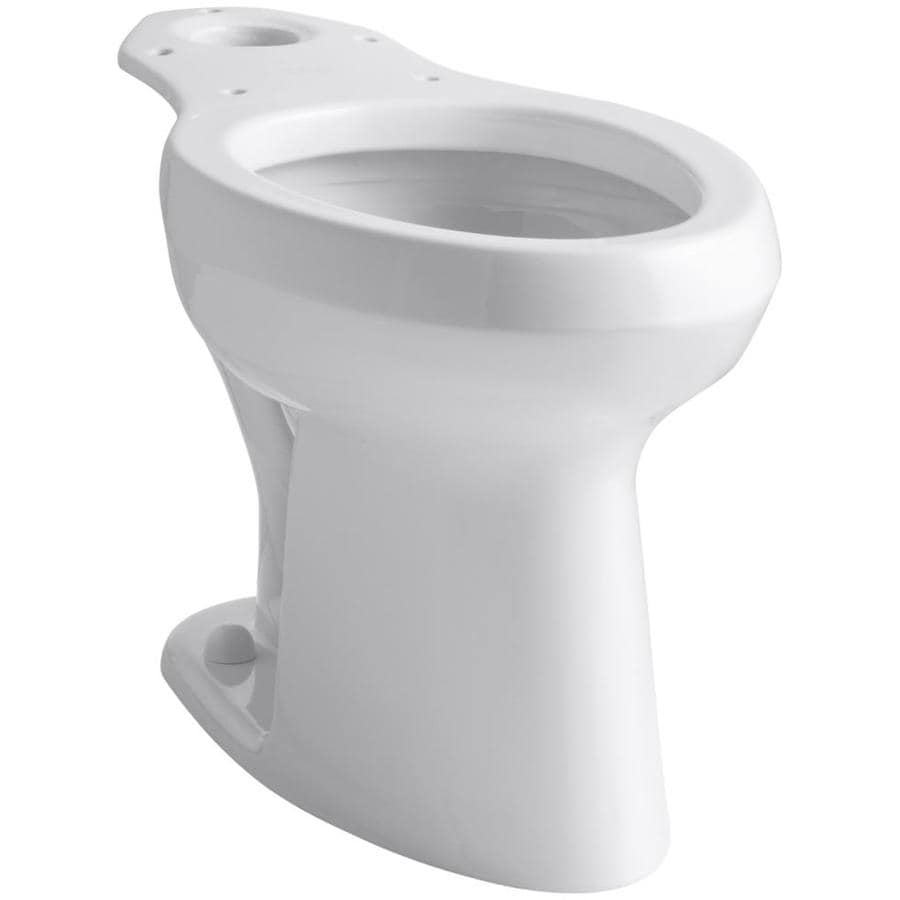 KOHLER Highline Chair Height White 12-in Rough-In Pressure Assist Elongated Toilet Bowl