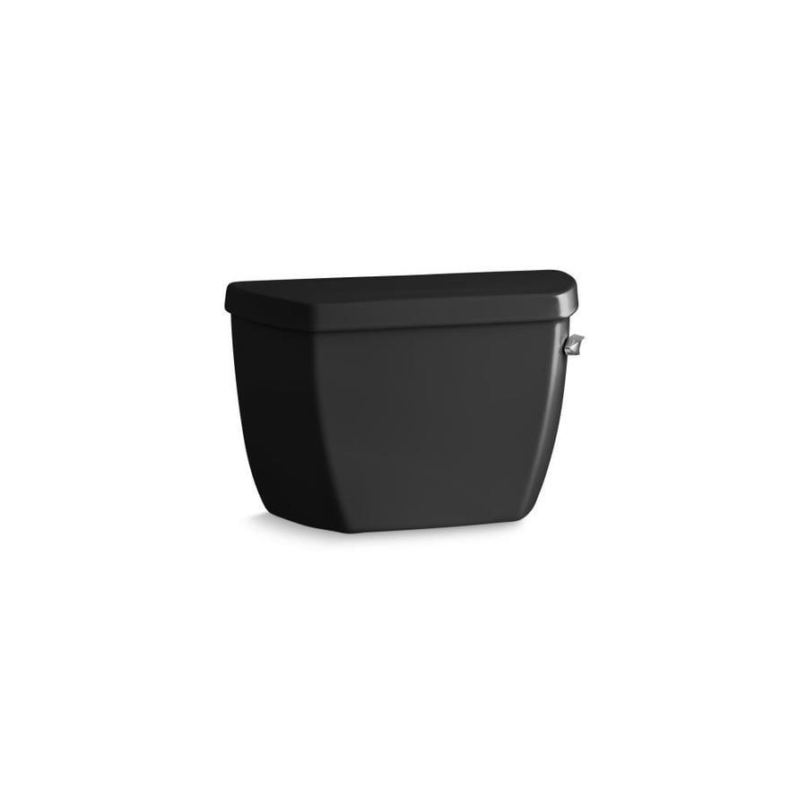 KOHLER Wellworth Black Black 1.4-GPF (5.3-LPF) 12-in Rough-In Pressure Assist Single-Flush Toilet Tank