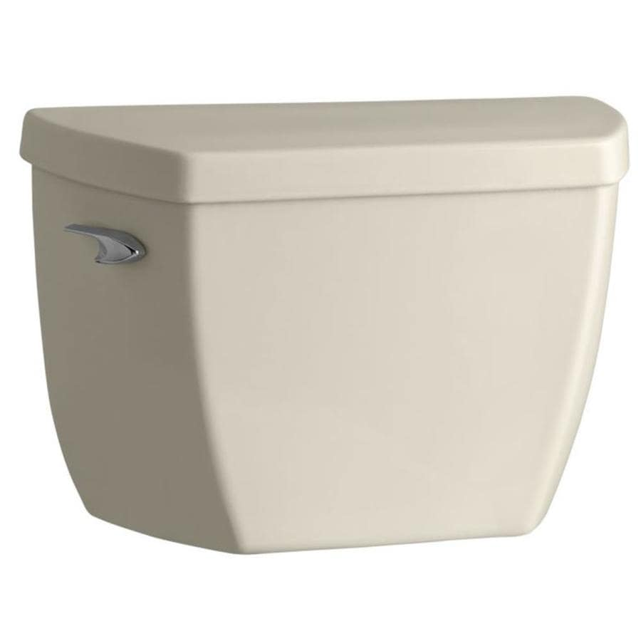 KOHLER Highline Almond 1.6-GPF Single-Flush High-Efficiency Toilet Tank