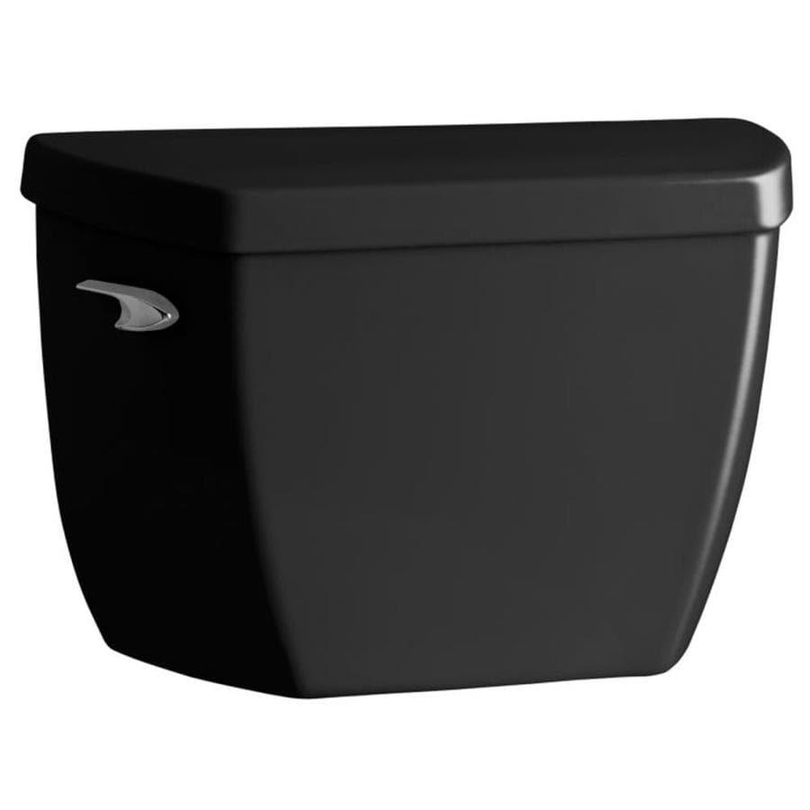 KOHLER Highline Black Black 1.6-GPF (6.06-LPF) 12 Rough-In Single-Flush High-Efficiency Toilet Tank