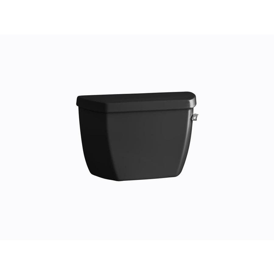KOHLER Highline Black 1.6-GPF (6.06-LPF) 12-in Rough-In Pressure Assist Single-Flush High-Efficiency Toilet Tank