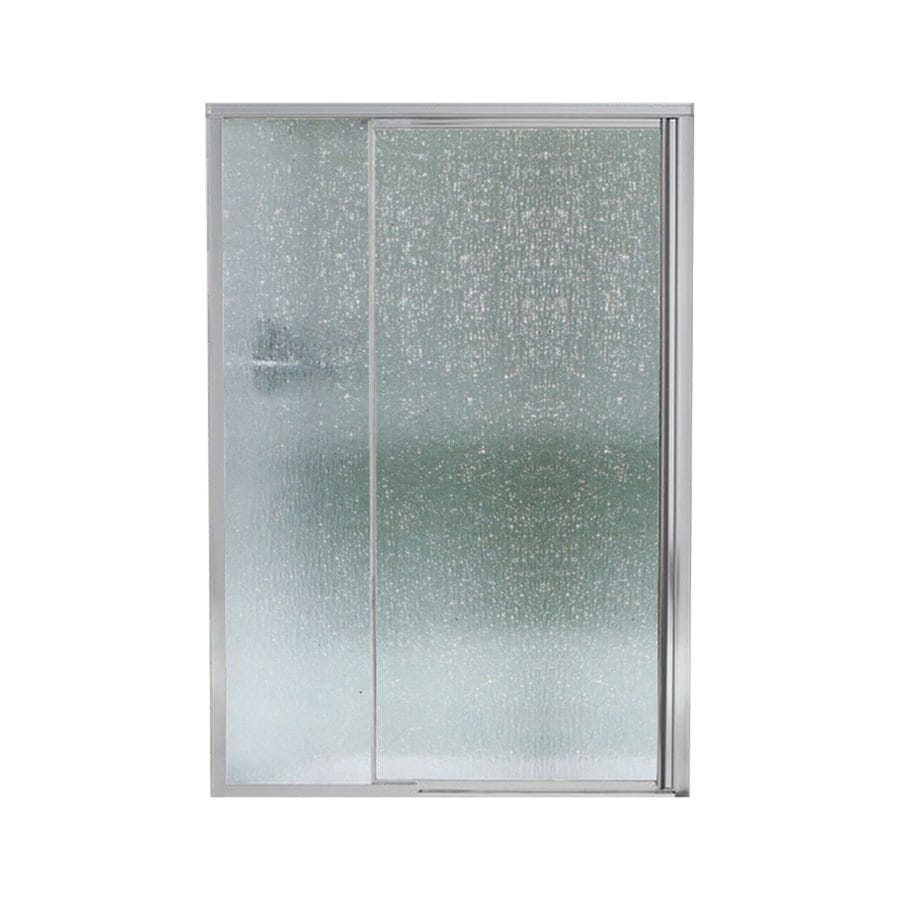 Sterling 42-in to 48-in Silver Framed Pivot Shower Door