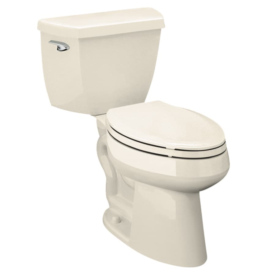 KOHLER Highline Classic 1.6-GPF (6.06-LPF) Almond Elongated Chair Height 2-Piece Toilet