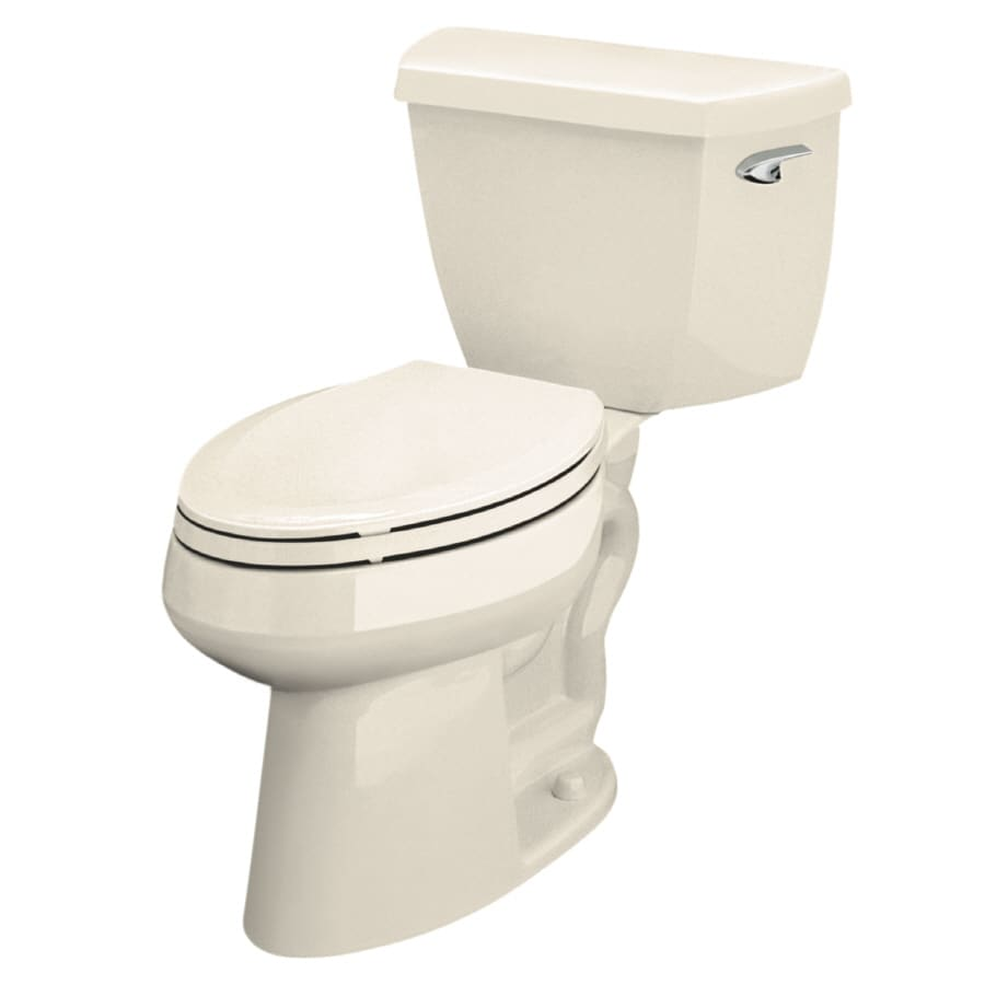 KOHLER Highline Classic 1.6-GPF Almond Elongated Chair Height 2-Piece Toilet