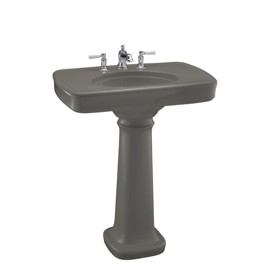 Bancroft Pedestal Sink : Shop KOHLER Bancroft 35.25-in H Cashmere Fire Clay Pedestal Sink at ...