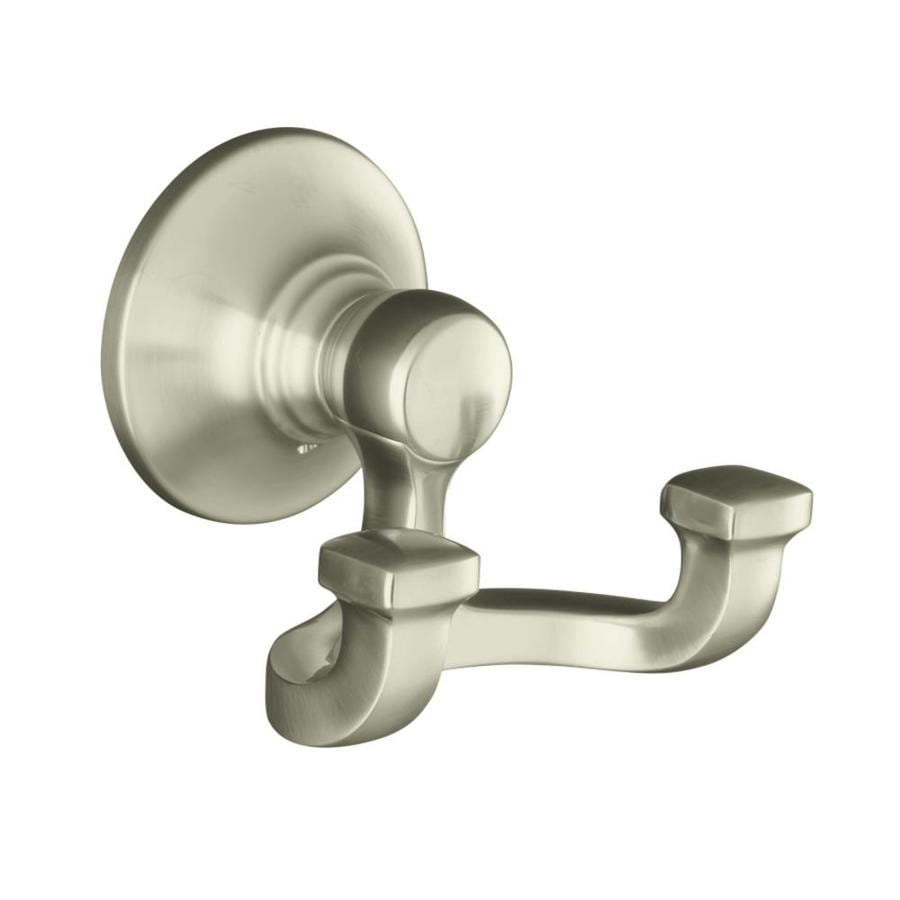 KOHLER Bancroft 2-Hook Vibrant Brushed Nickel Towel Hook