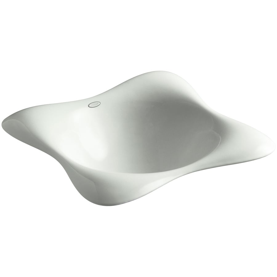 KOHLER Dolce Vita Sea Salt Cast Iron Drop-in Square Bathroom Sink