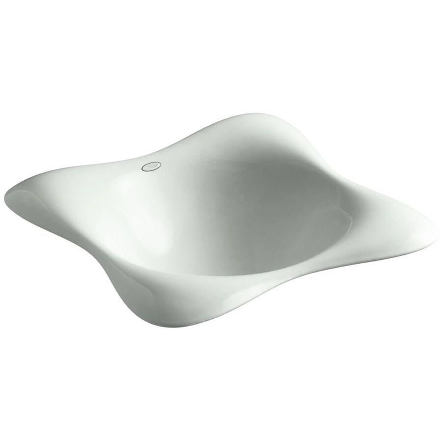 KOHLER Dolce Vita Sea Salt Cast Iron Drop-in Rectangular Bathroom Sink