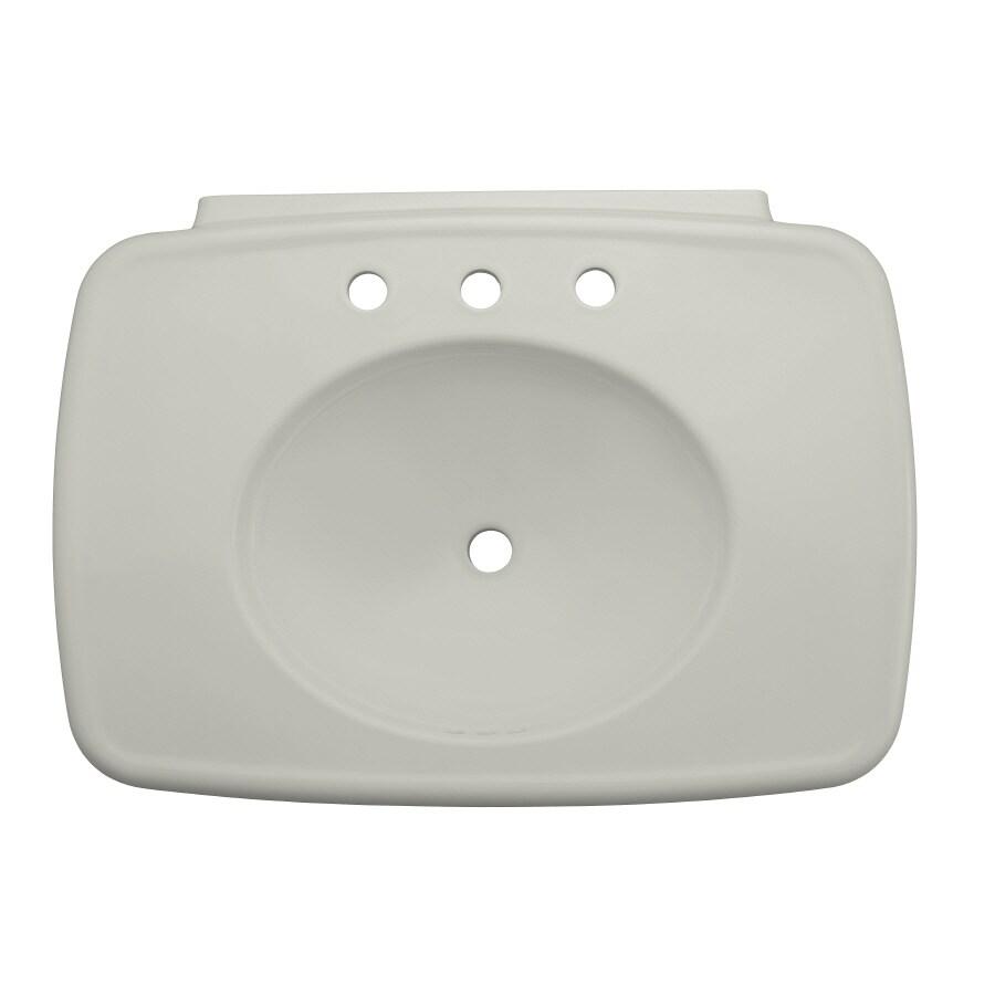 KOHLER Bancroft 30.38-in L x 22.25-in W Ice Grey Fire Clay Oval Pedestal Sink Top
