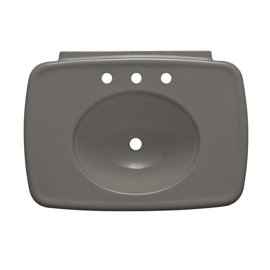 KOHLER Bancroft 30.38-in L x 22.25-in W Cashmere Fire Clay Oval Pedestal Sink Top