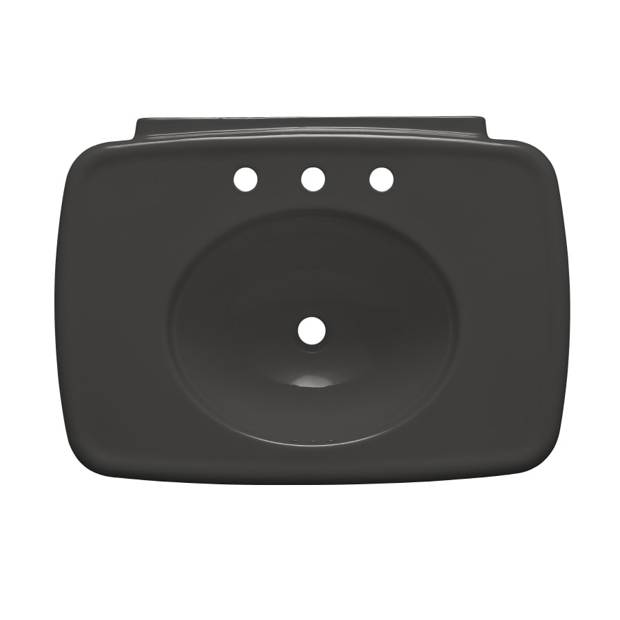 KOHLER 30.38-in L x 22.25-in W Thunder Grey Fire Clay Pedestal Sink Top