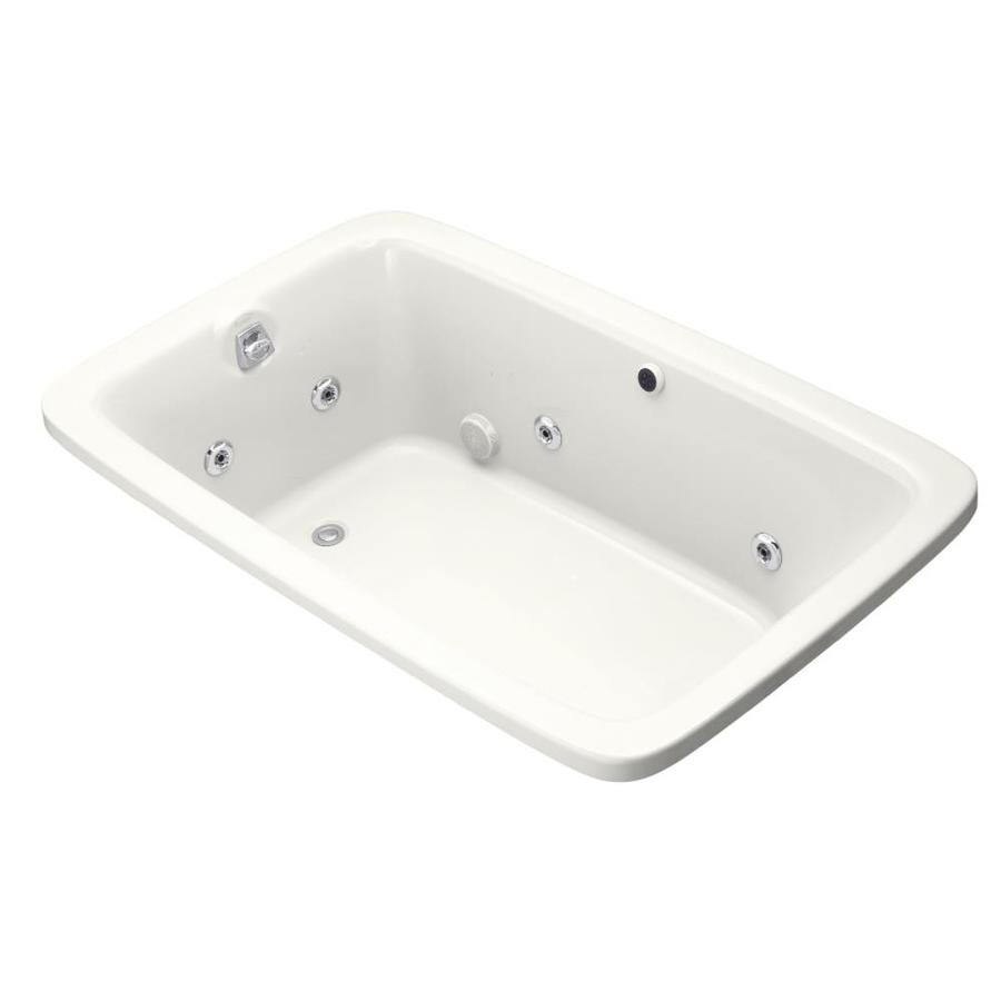 KOHLER Bancroft White Acrylic Rectangular Whirlpool Tub (Common: 42-in x 66-in; Actual: 22-in x 42-in x 66-in)