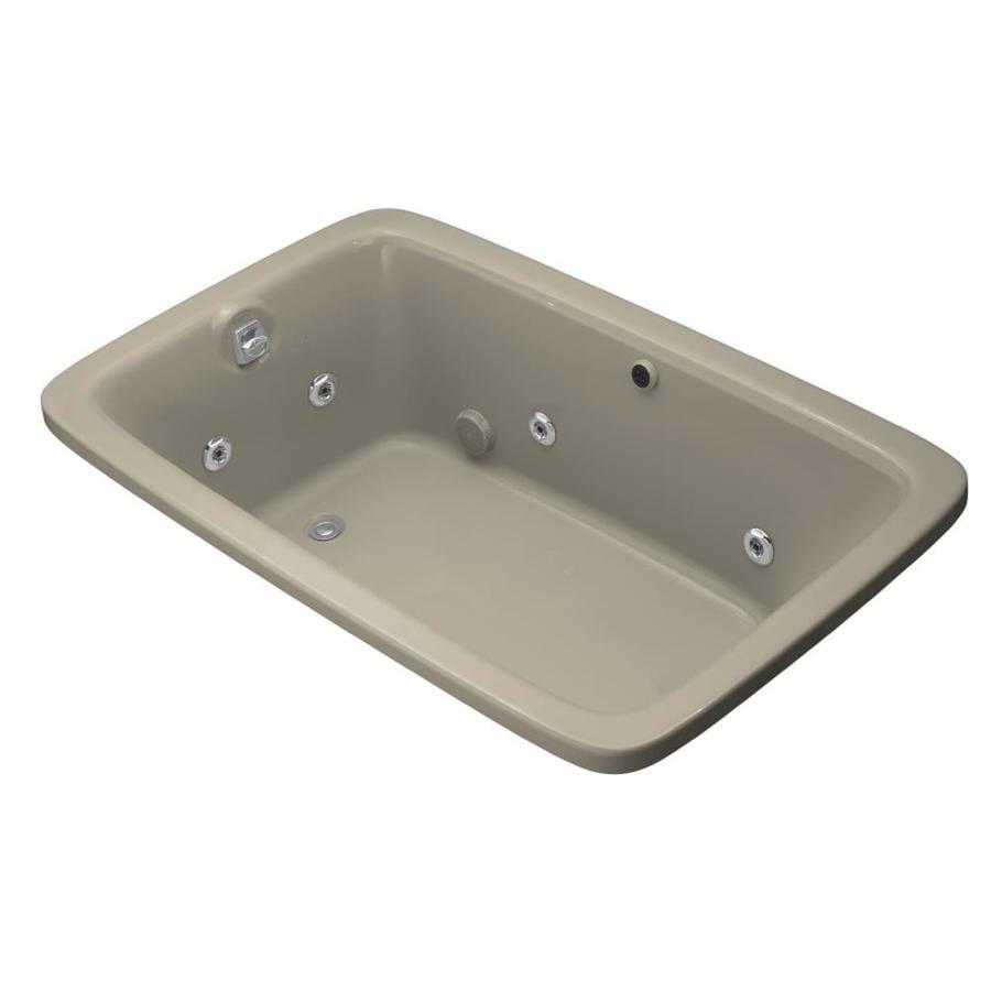 KOHLER Bancroft Sandbar Acrylic Rectangular Whirlpool Tub (Common: 42-in x 66-in; Actual: 22.0000-in x 42.0000-in x 66.0000-in)