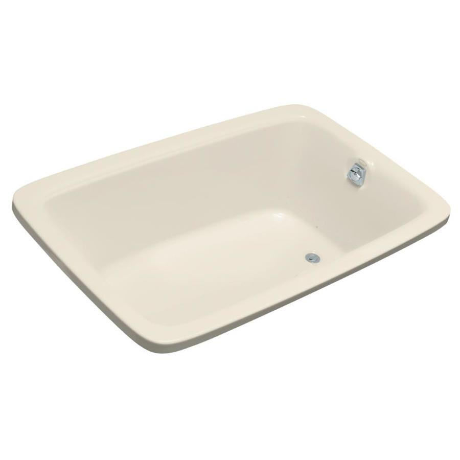 KOHLER Bancroft 66-in Almond Acrylic Drop-In Air Bath with Reversible Drain