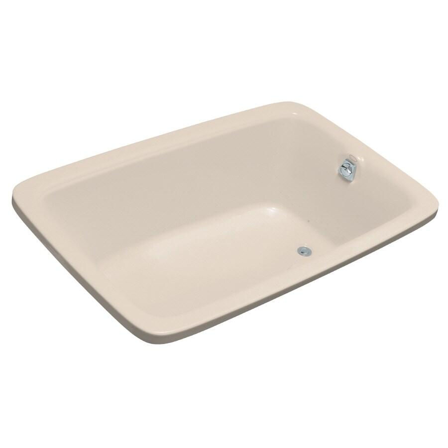 KOHLER Bancroft 66-in L x 42-in W x 22-in H Innocent Blush Rectangular Air Bath