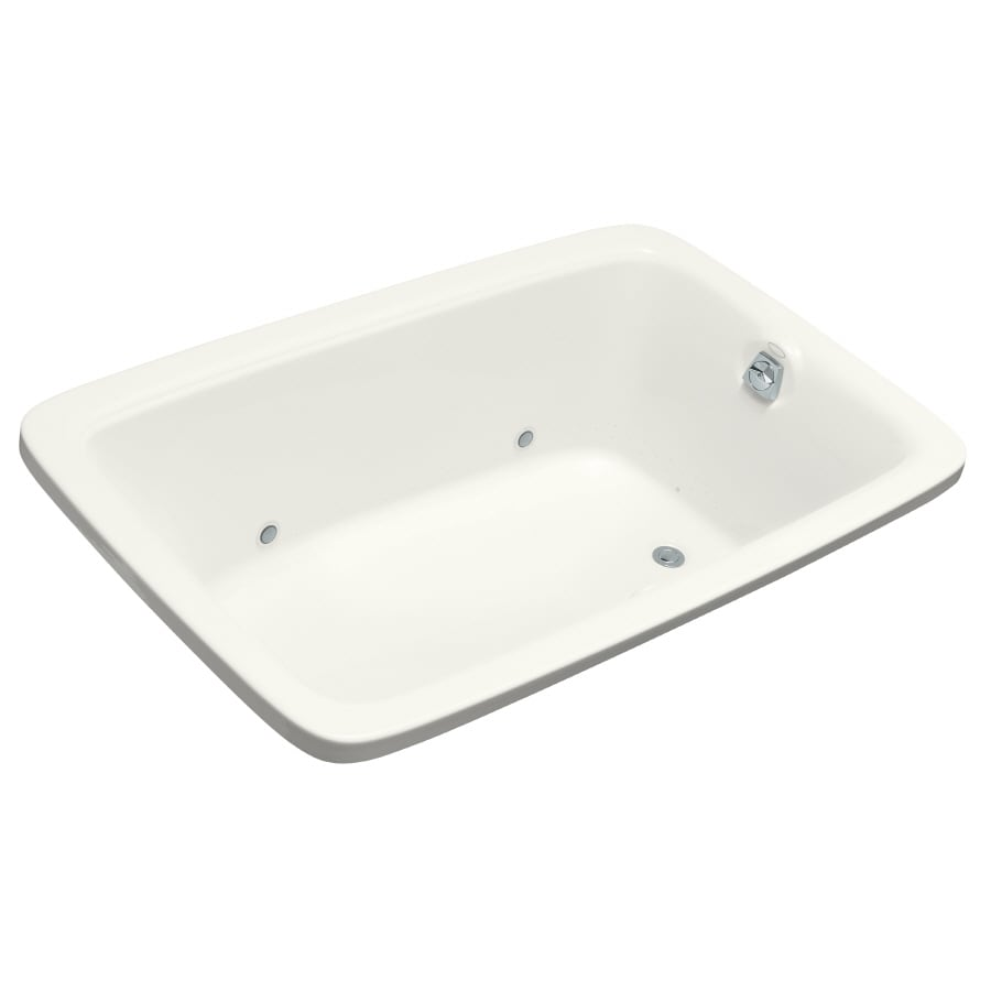 KOHLER Bancroft 66-in White Acrylic Drop-In Air Bath with Reversible Drain