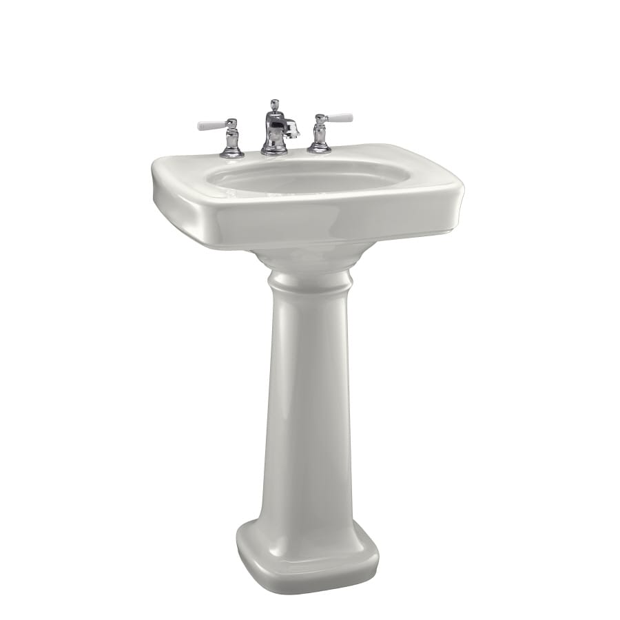 KOHLER Bancroft 35.25-in H White Vitreous China Pedestal Sink