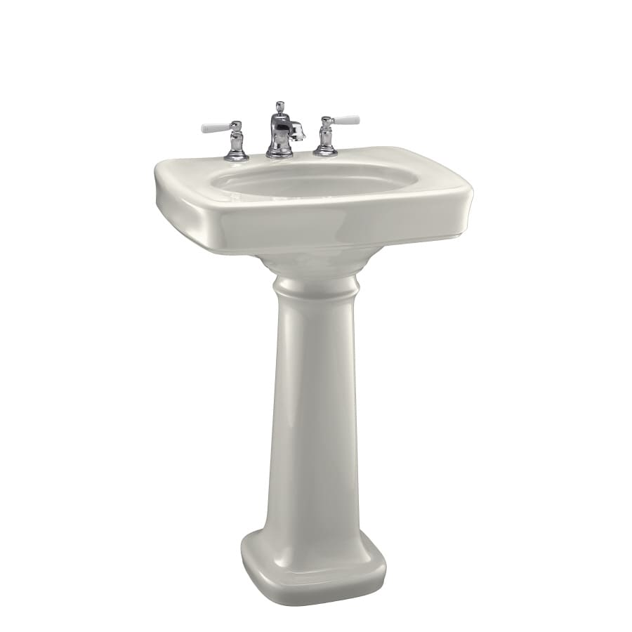 KOHLER Bancroft 35.25-in H Biscuit Vitreous China Pedestal Sink