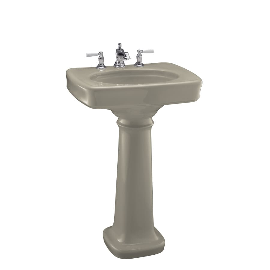 KOHLER Bancroft 35.25-in H Sandbar Vitreous China Pedestal Sink