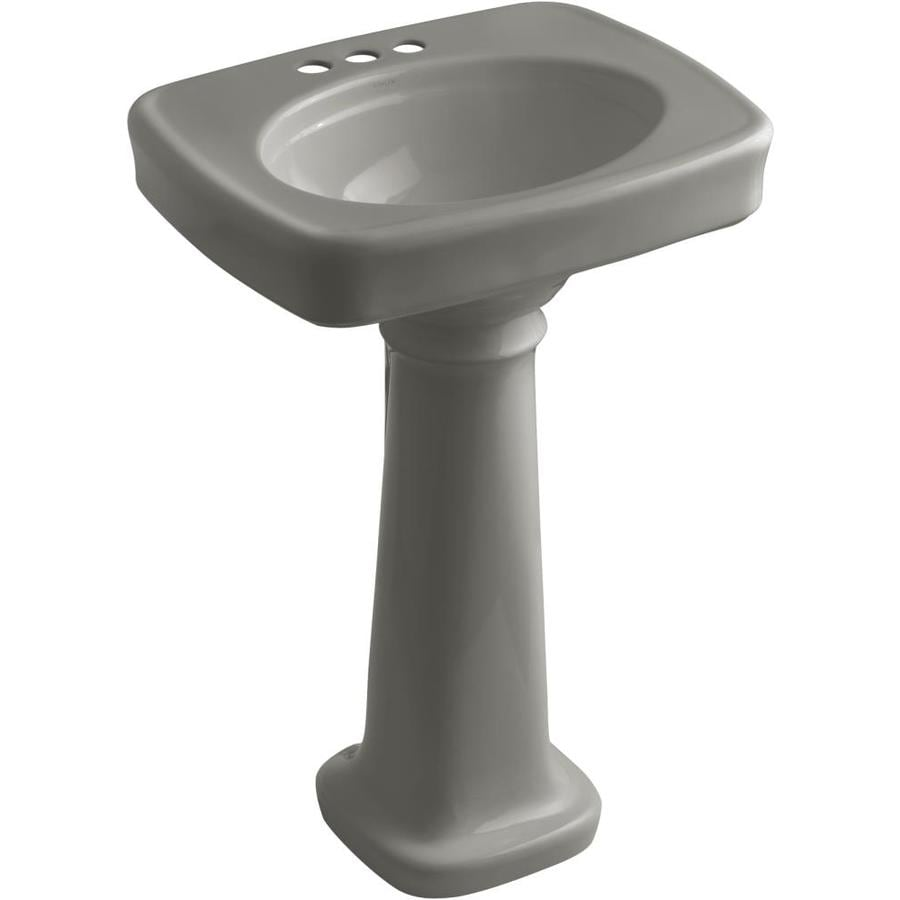 KOHLER Bancroft 35.25-in H Cashmere Vitreous China Pedestal Sink