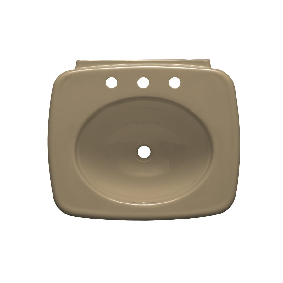 KOHLER Bancroft 24-in L x 21-in W Mexican Sand Vitreous China Rectangular Pedestal Sink Top