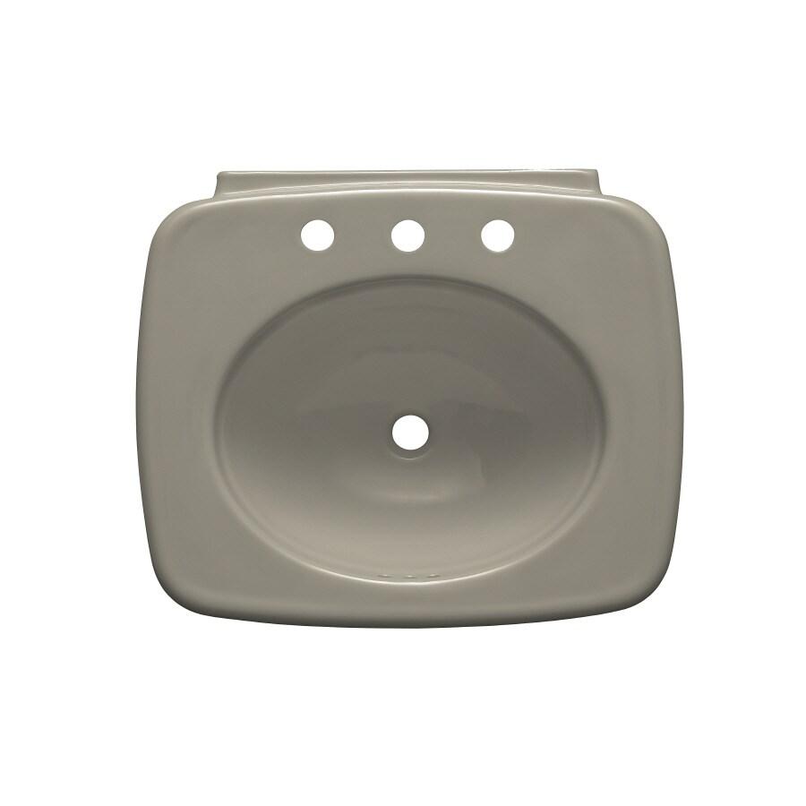 KOHLER Bancroft 24-in L x 21-in W Sandbar Vitreous China Rectangular Pedestal Sink Top