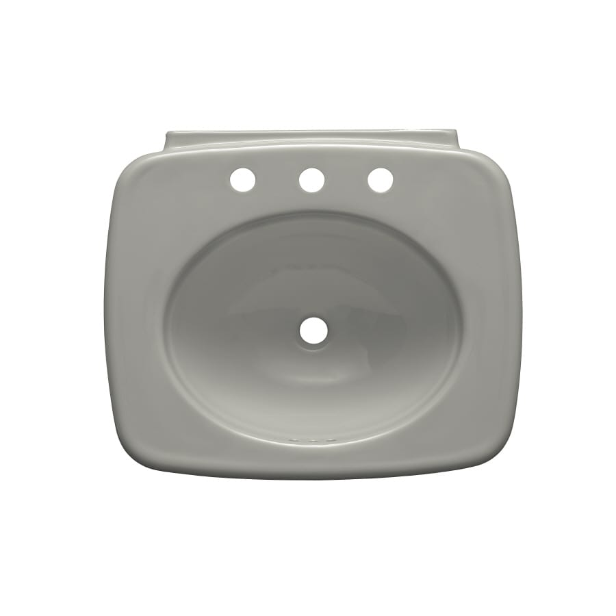 KOHLER Bancroft 24-in L x 21-in W Ice Grey Vitreous China Rectangular Pedestal Sink Top