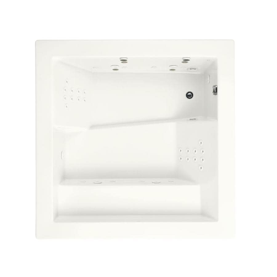 KOHLER Consonance 2-Person White Acrylic Rectangular Whirlpool Tub (Common: 69-in x 69-in; Actual: 24-in x 69.25-in x 69.25-in)