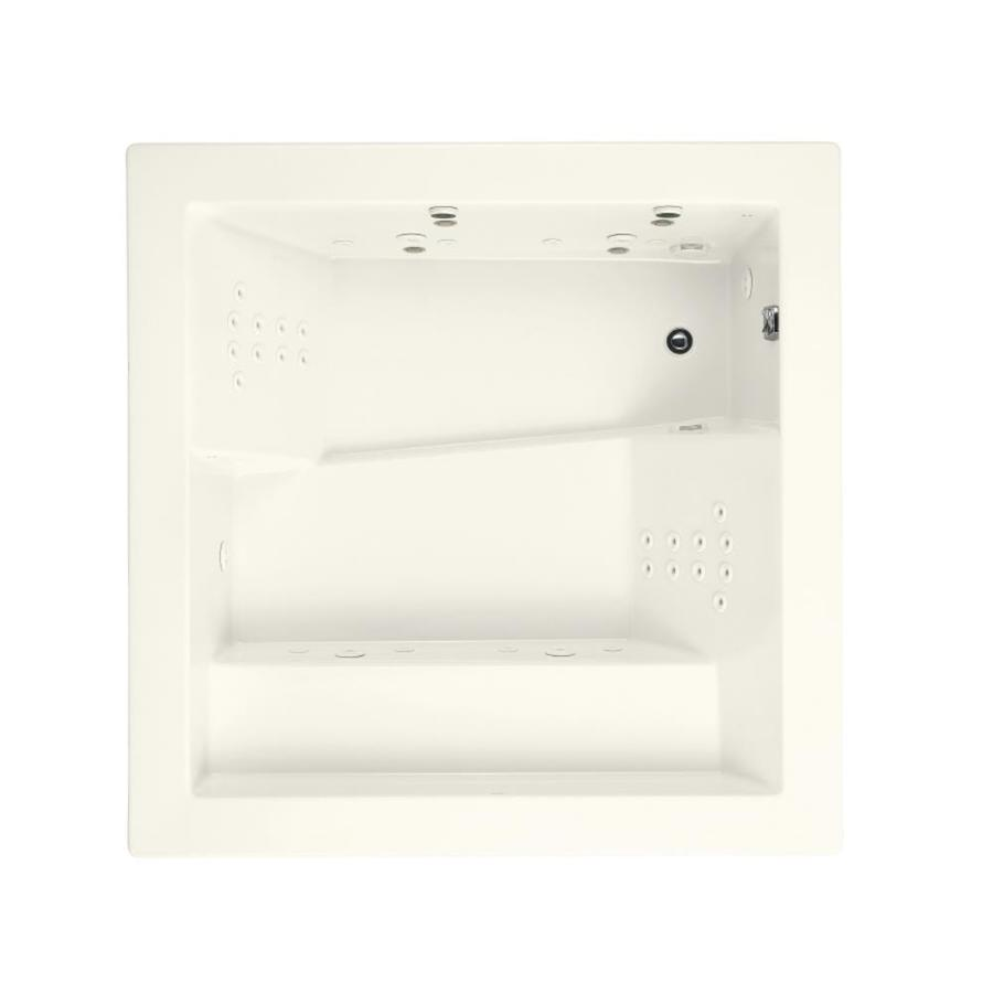 KOHLER Consonance 69.25-in Biscuit Acrylic Drop-In Whirlpool Tub with Reversible Drain