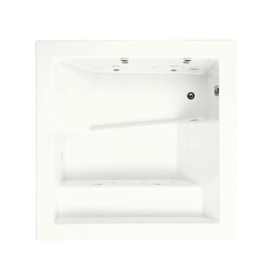 KOHLER Consonance 69.25-in White Acrylic Drop-In Whirlpool Tub with Reversible Drain
